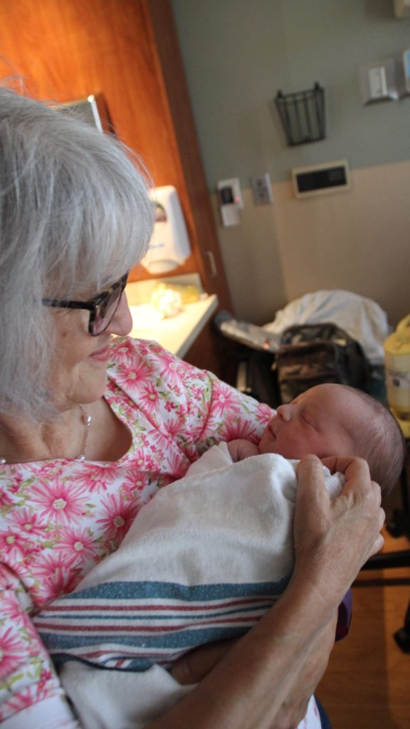 Welcoming a new grandson into the world!