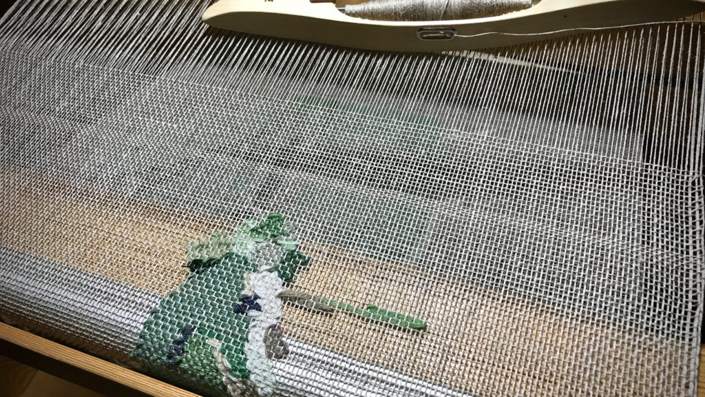 Finishing woven transparency of a cactus.