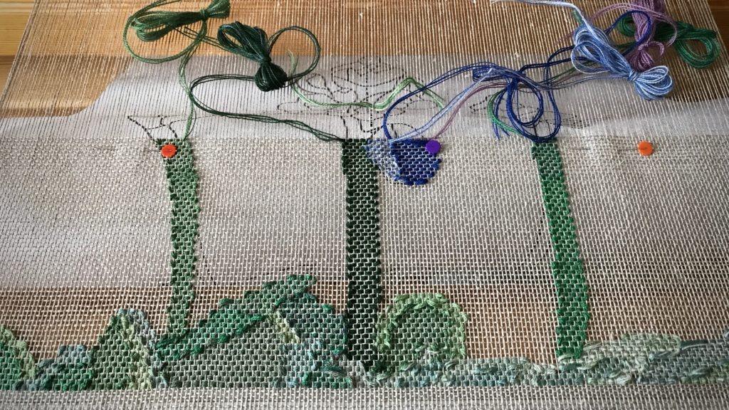 Woven transparency in progress.