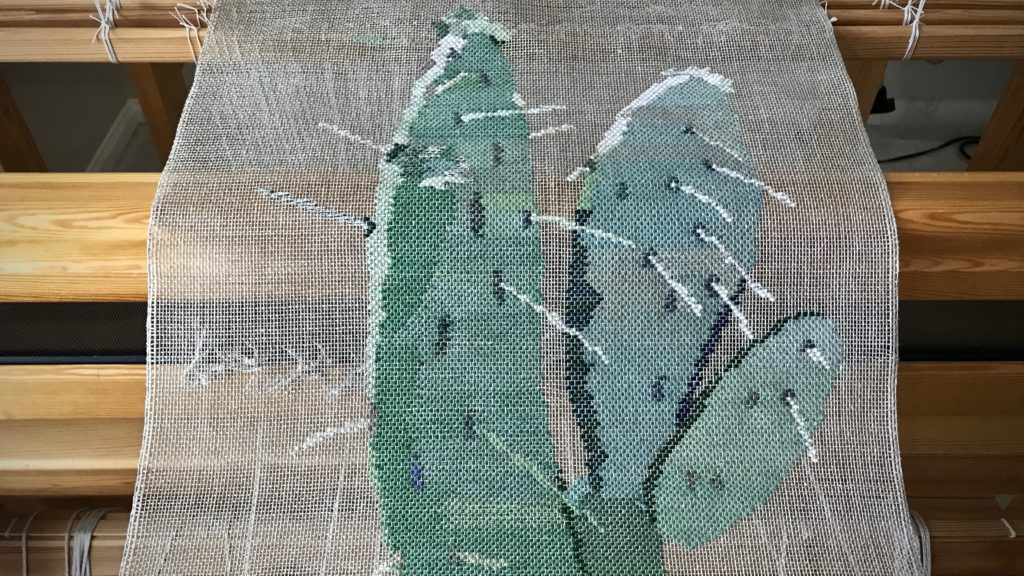 Cactus woven transparency just off the loom!