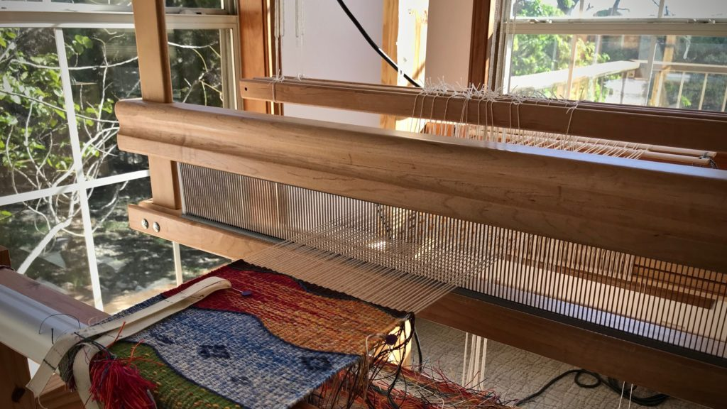 Peaceful setting for the weaving loom!