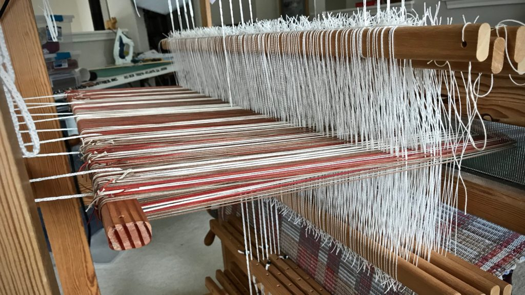 This warp is almost finished! Rag rugs.