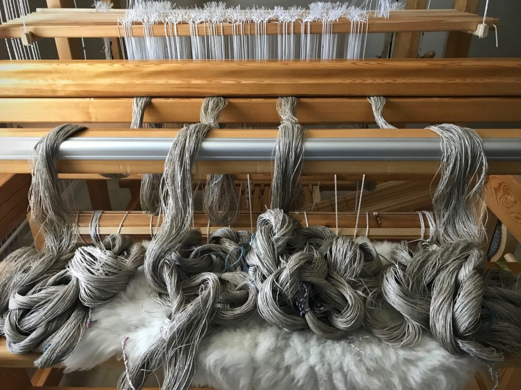 Linen warp chains.