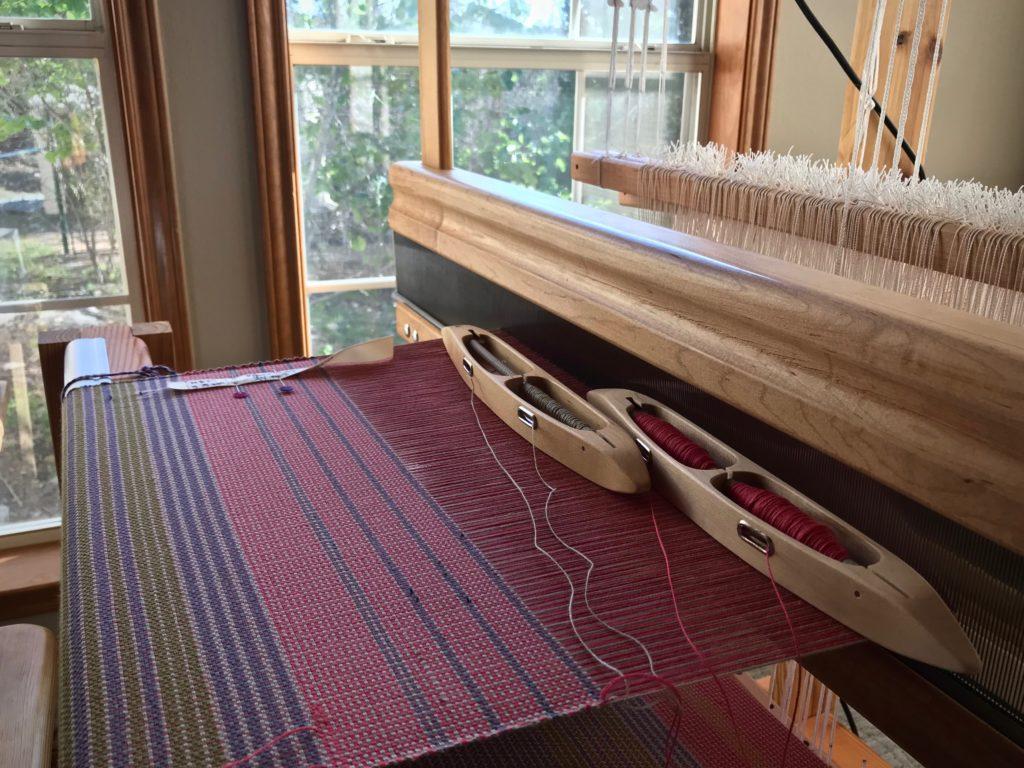 Color and weave plain weave placemats on the loom.