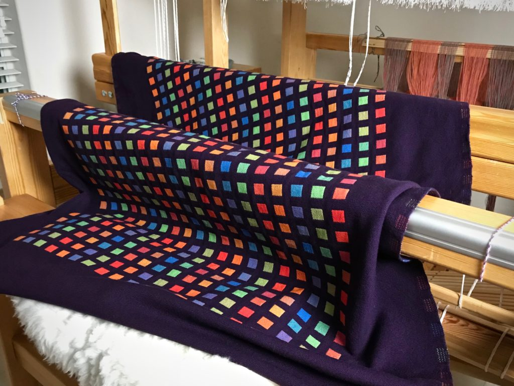 Radiance. Large cotton doubleweave throw. Karen Isenhower