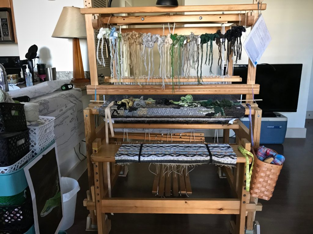Ready to weave after relocating the loom!