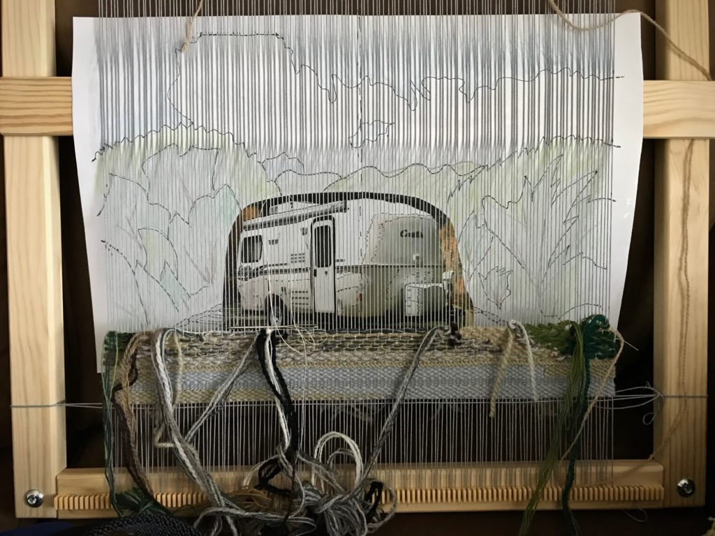 Tapestry of our new Casita travel trailer!