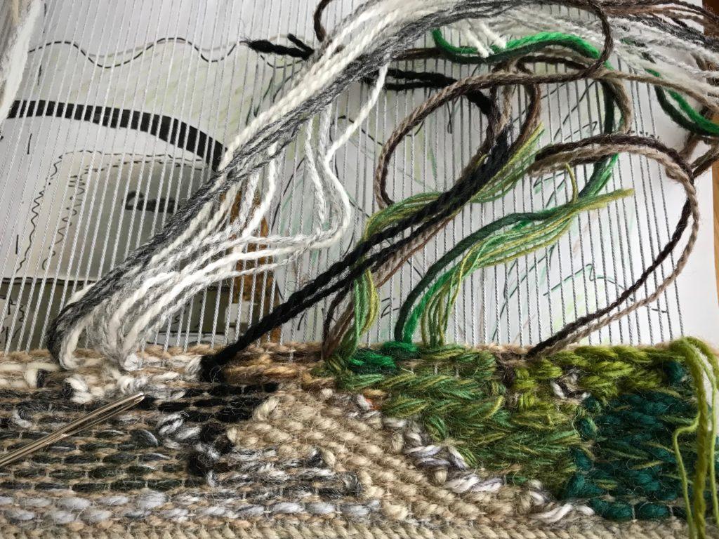 Glimakra Freja tapestry frame. Expressive tapestry weaving.