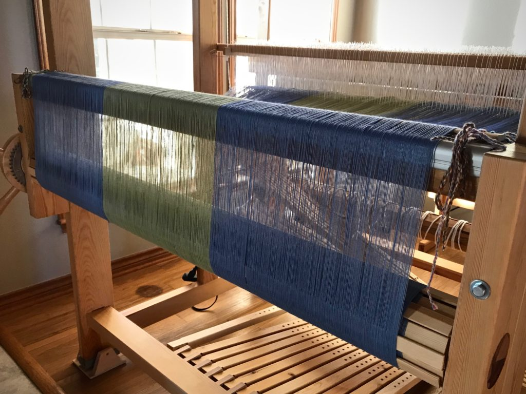 Fresh warp on the back beam. Magical!