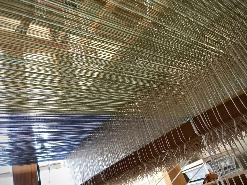 Under the warp. Intriguing view.