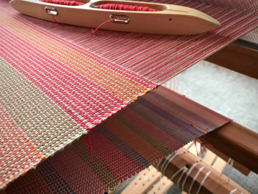 Color and weave produces different patterns.