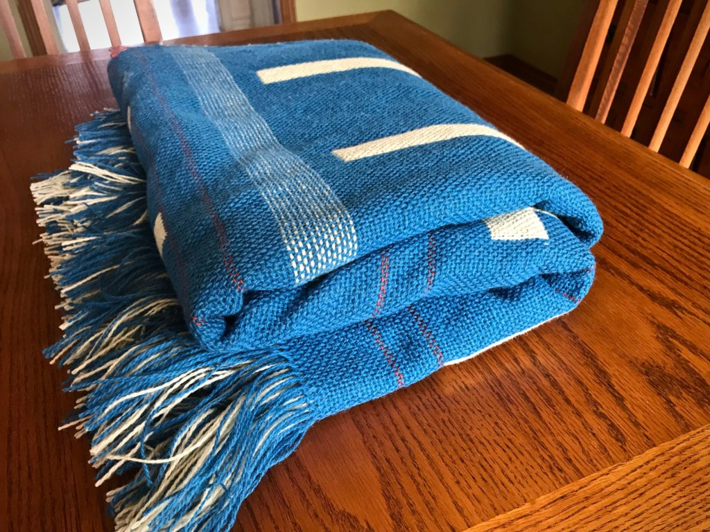 Handwoven double weave blanket. 12 shafts.