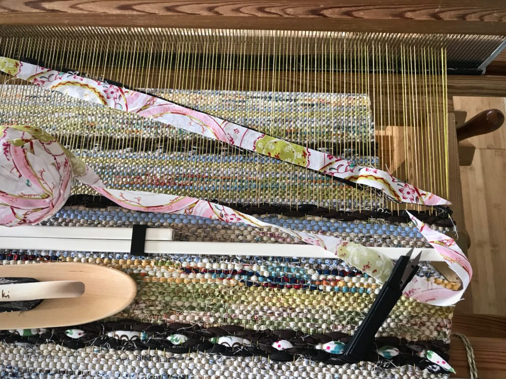 How to add an inlay strip to rosepath rag rug.