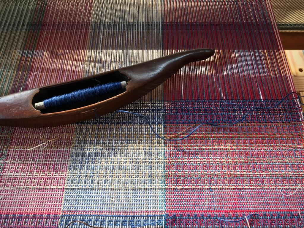 Linen waffle weave.