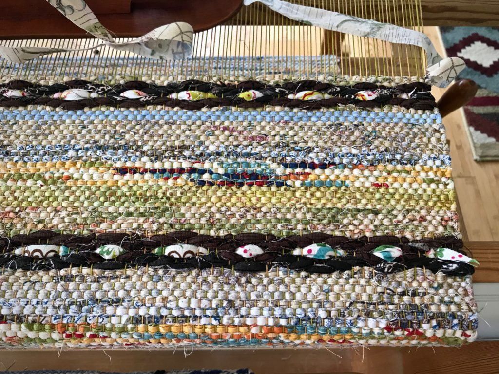 Rag rug with special rosepath motif.