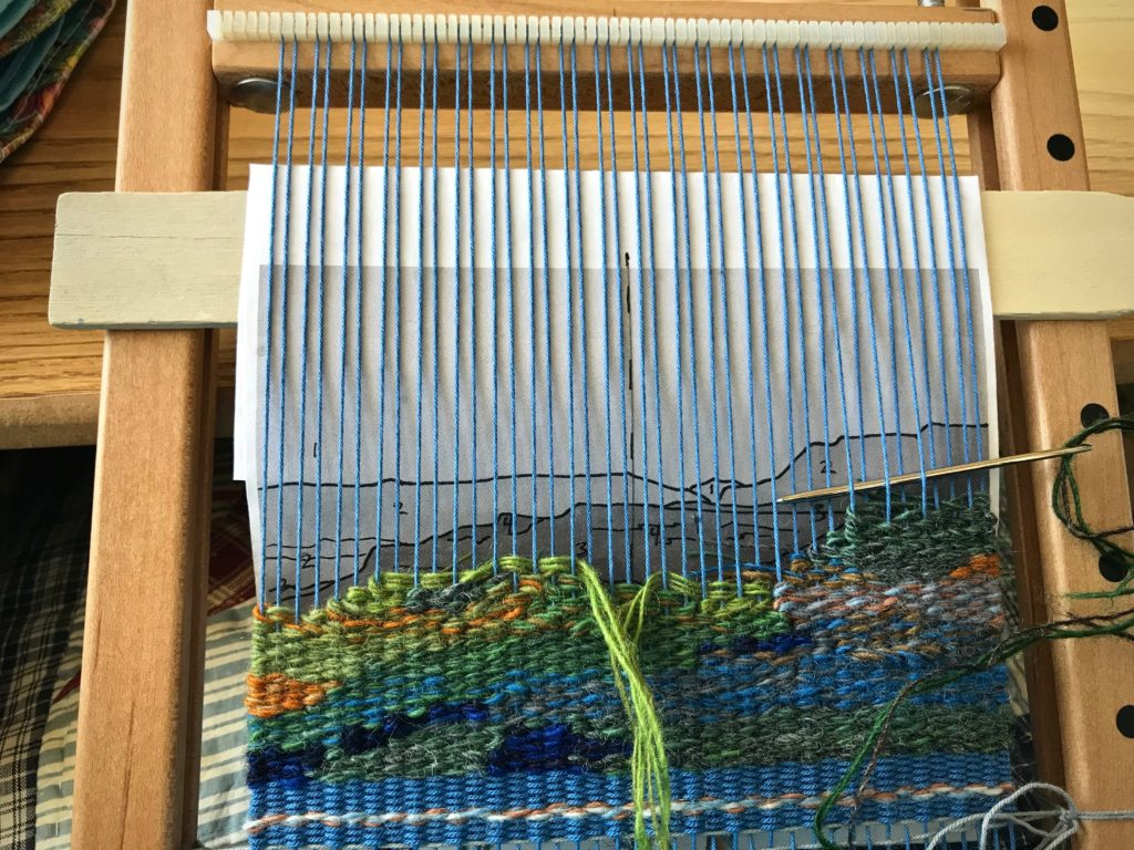 Landscape - woven small tapestry.