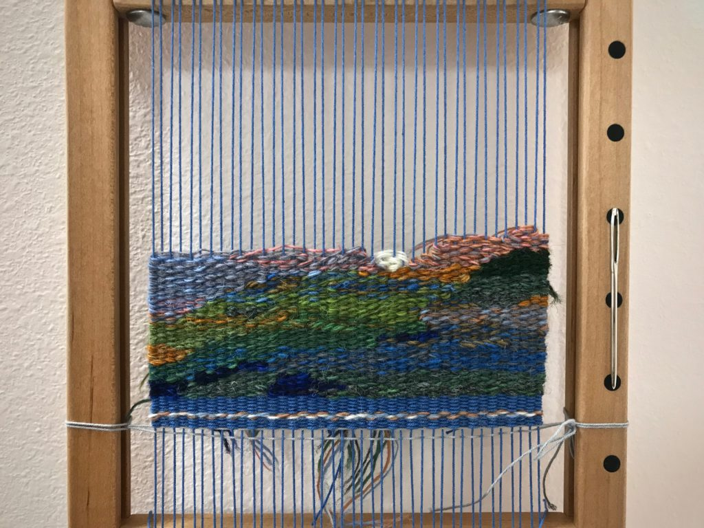 Small tapestry in progress.